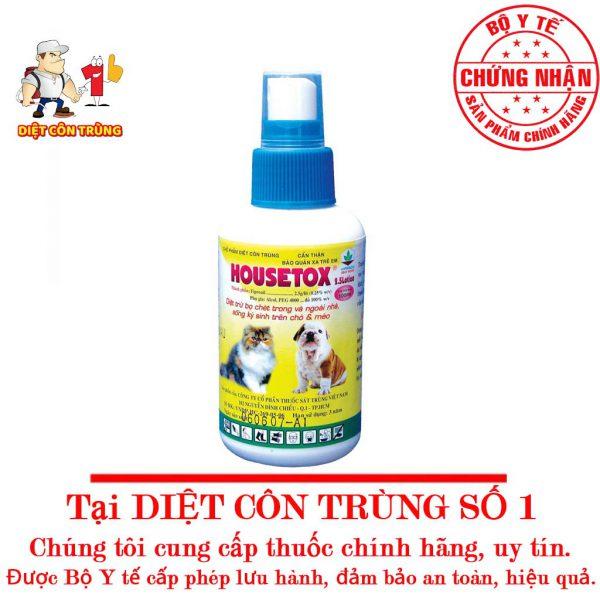 Thuốc Diệt Và Phòng Trừ Bọ Chét HOUSETOX Cho Mèo Chó 1 600x600 1